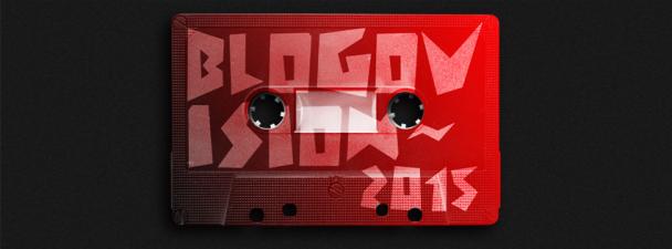 Παραλλαγή της αφίσας Blogovision 2015 από τον εξαιρετικό @onemanshowstudio