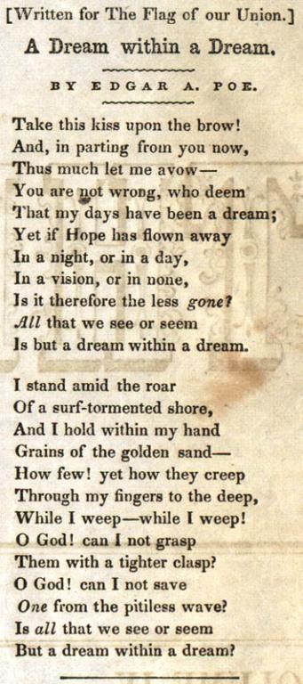A Dream Within A Dream 1849