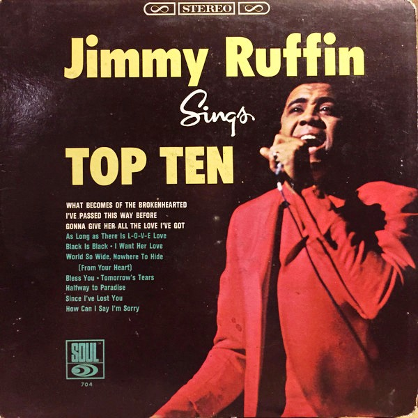 Jimmy Ruffin ‎- Sings Top Ten