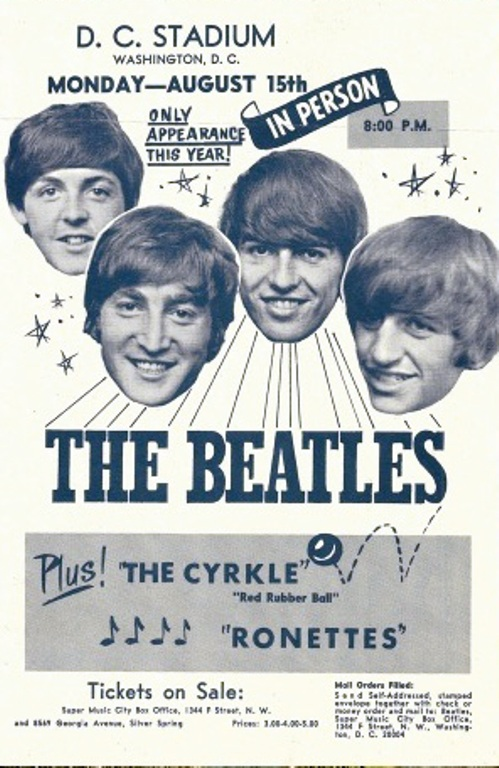 Live Beatles Poster