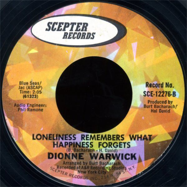 Dionne Warwick ‎- Loneliness Remembers What Happiness Forgets