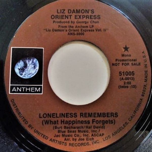 Liz Damon's Orient Express ‎– Loneliness Remembers (What Happiness Forgets)